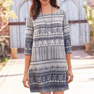 Garnet Hill 3/4 sleeve linen dress